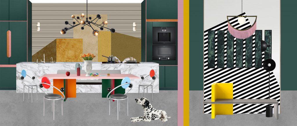 kitchen+fireplace